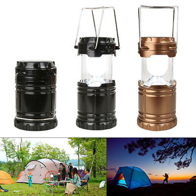 UK stock Solar Powered LED Collapsible Lantern Light 3W for Outdoor Hiking  #CL1