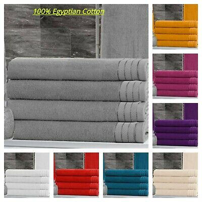 Pack of 6 Large Jumbo Bath Sheets 100% Egyptian combed Soft Cotton Towels Wow!!!