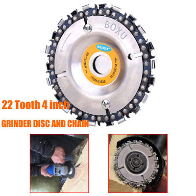 "4"" Woodworking Plate Angle Grinding Chain Wheel Wood Carving Disc For Grinder UK"