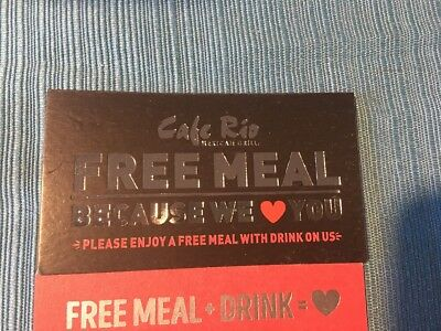 20 Cafe Rio Meal Cards 6/30/19