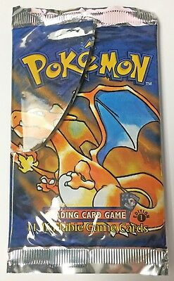 Pokemon Cards - Empty 1st Edition Base Set Booster Pack - Charizard