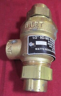 Watts Series 9D Dual Check Valve BACKFLOW PREVENTER Vent 9D M3 175PSI 1/2""