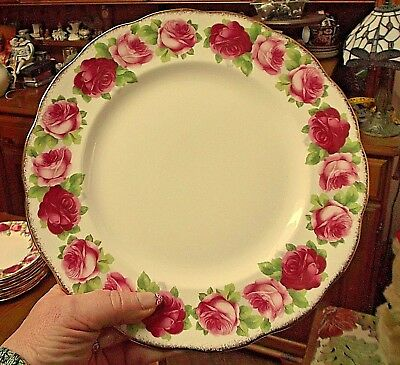 """ROYAL ALBERT OLD ENGLISH ROSE 10""""  DINNER PLATE x 1 (2nds seconds)"""