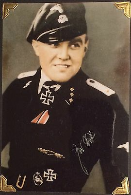Extremely Rare Signed Photo, Johann Sailer,german,wwii,knights Cross