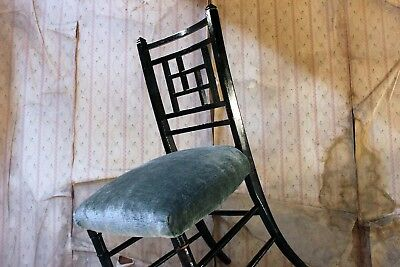Antique Aesthetic Movement Ebonised Side Chair in the Manner of E.W. Godwin