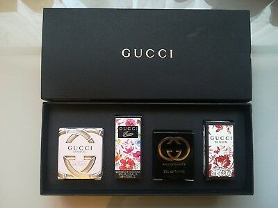 a64001739d8 Gucci Miniature Perfume Set 4 x 5ml Bamboo Gorgeous Gardenia Guilty Bloom  EDP