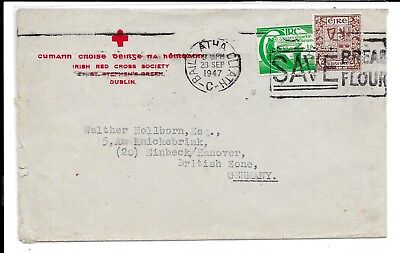 Ireland 1947 Red Cross Cover To Germany