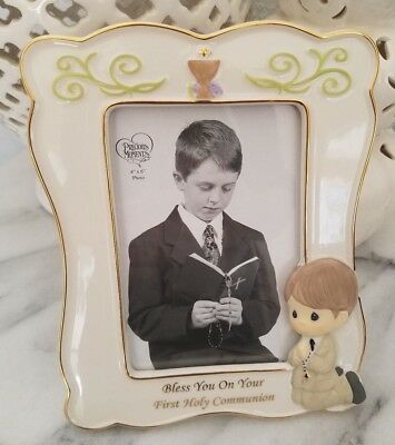 Precious Moments Boy Communion Picture Frame Bless You On Your First Communion