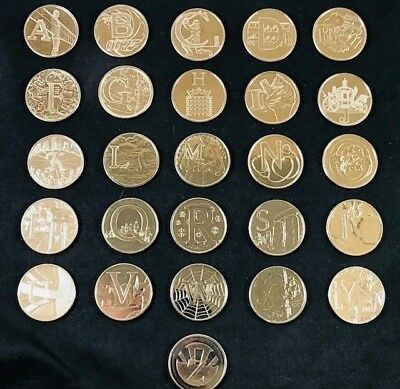 """Royal Mint Complete Certified """"Early Strike"""" UC 10p  A to Z Full Set with Album"""