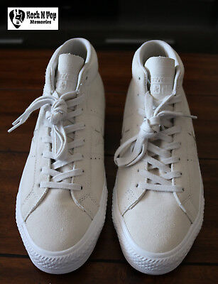 fe6edfe7084 Converse Cons Men s One Star Pro Mid Skate Shoe Pale Putty Suede Unisex Size  10