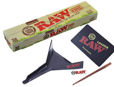 Raw Cone Loader Plus 32 Raw Organic 1 1/4 Pre Rolled Cones Combo