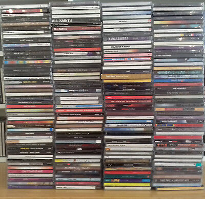 Job Lot of 180 Pop & Rock Music Album Cd`s from the 80`s, 90`s & 00`s.