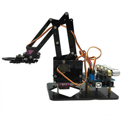 Professional 4-Dof Mechanical Robot Arm DIY Assembly Kits for Arduino Device