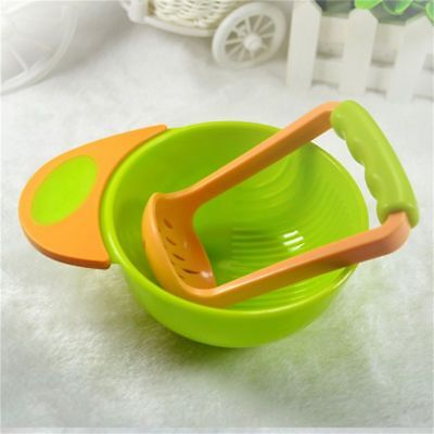 Orange green baby manual food fruit and vegetable grinding bowls Baby food A6D4