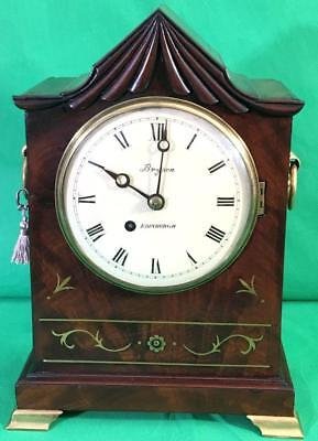 Antique Scottish William Iv 8 Day Fusee Bracket Clock Signed Bryston Edinburgh