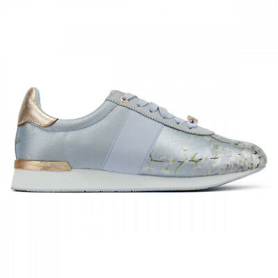 cbf40243748a Ted Baker Emileio Womens Graceful Blue Jacquard Trainers UK Sizes  3-8