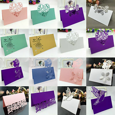 50X Laser Cut Place Card Blank Table Number Name Wedding Party Favors Wholesale