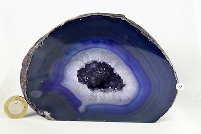AD18 Large Agate Crystal Purple Geode Great Gift Home Art Décor  1.7KG