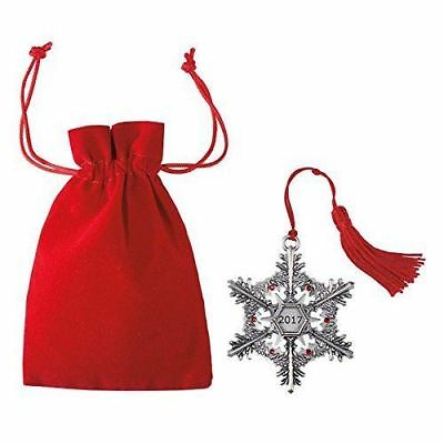 *NEW* AVON 2017 Collectible Pewter - Snowflake Christmas Ornament -discontinued!