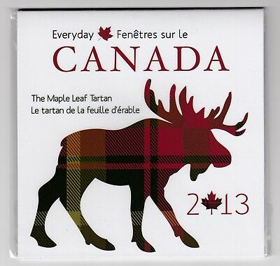 2013 Canada Everyday The Maple Leaf Tartan 50-cent Coin & Swatch Set
