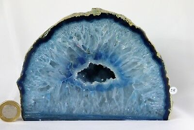 AD28 Large Blue Agate Crystal Geode Great Gift Home Art Décor  1.94KG