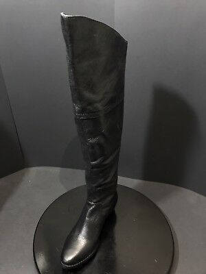 69ae0cb04ad NEW STEVE MADDEN Womens Koma Tall Black Leather Knee High Boots Size US 6 M