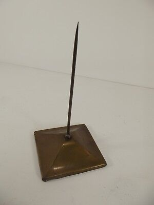 Vintage Receipt Spike Brass Covered Cast Iron Base.