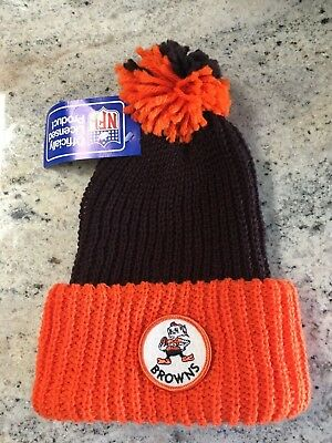 e23588b3a51 NWT vtg Cleveland Browns winter knit pom hat throwback old stock never worn