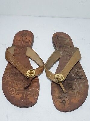 7eee7455f7acb TORY BURCH THORA Reverse Metallic Leather Thong Sandals in Rosa Pink ...