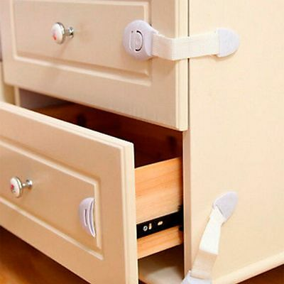 5pcs/set Child Baby Kids Drawer Door Cabinet Cupboard Toddler White Safety Lock