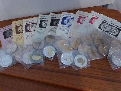 Thirty-four US National Historic Mint DOUBLE EAGLE Commemorative Coins