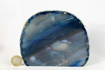 AD40 Large Blue Agate Crystal Geode Great Gift Home Art Décor  1.26KG