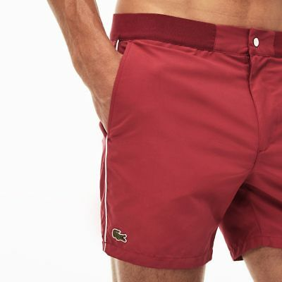 9344a19d11 Lacoste Sport Men's Taffeta Trunks Shorts Swim Liner Red Nwt $75