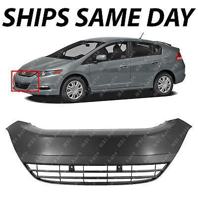 NEW Primered Front Bumper Cover Center Grille Grill for 2010-2014 Honda Insight
