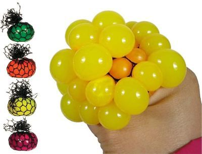 """2"""" Squishy Mesh Ball Squeeze Sensory Kids Stress Relief Party Bag Filler Toy"""