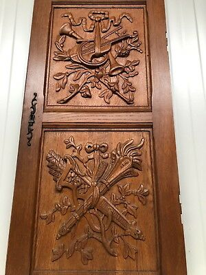 Stunning Large  Louis XVI / Hunting / Black Forest Door panel carved in wood 4