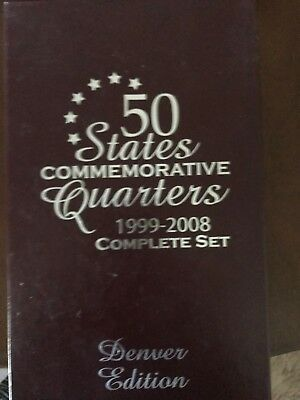 50 States Commemorative Quarters Complete Set 1999-2008 Denver