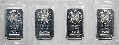 Lot of 4 - Eagle Silver Art Bars 1oz Each .999 Fine (4oz Total) Sunshine Mint