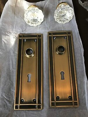 Nostalgic Warehouse Mission Plate With Keyhole Crystal Glass Knob Mortise Brass