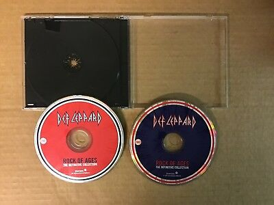 Def Leppard Rock Of Ages The Definitive Collection 2 CD Set Discs Only