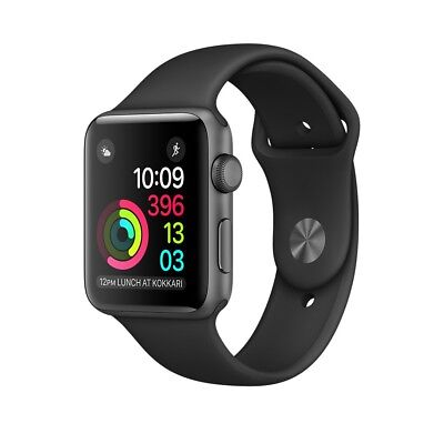 Apple Watch series 1 Sport 38mm Space Gray (Con Accesorios)