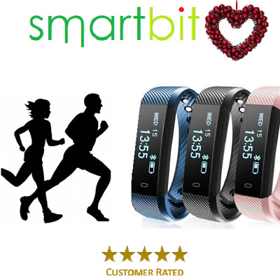 Fitness Tracker Smart Bit Heart Rate Monitor Sport Activity Fit Bitspeed Watch