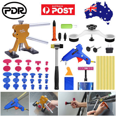 AU 45× PDR Tools Paintless Dent Repair Removal Dent Lifter Puller T Bar Hail Kit