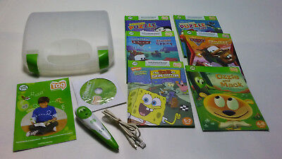 Leap Frog Tag Reading System PEN Stylus Green 6 BOOKS USB CABLE , CONNECT CD