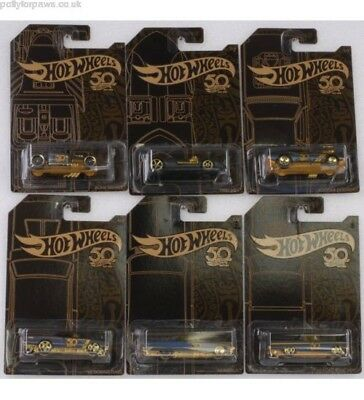 Hot Wheels 50th Anniversary Black & Gold Collection Lot of 6.