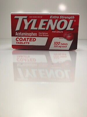 Tylenol Extra Strength Coated Tablets, Acetaminophen Adult Pain Relief 100 Tabs