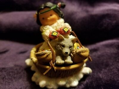 """Retired 2001 Enesco """"friends All The Way"""" Friends Of The Feather Figurine"""