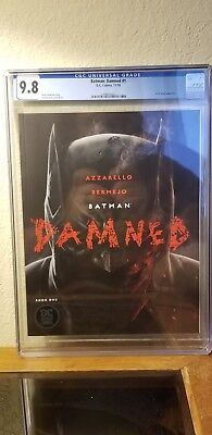 Batman Damned 1 CGC 9.8 1st DC BLACK LABEL title. Uncensored.