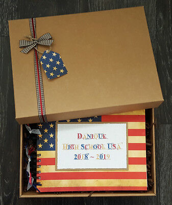 "USA Adventure Book, Travel Photo Album, Holiday Memories,10""x 8"" boxed scrapbook"