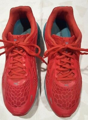 WOMEN S PUMA BIOWEB Elite Running Athletic Shoes Red Turquoise size ... e1a8439fa